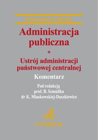 Okładka książki/ebooka Administracja publiczna Tom 1 Ustrój administracji państwowej centralnej