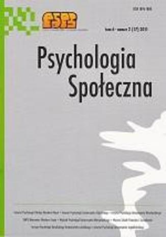 Okładka książki/ebooka Psychologia Społeczna nr 2(17)/2011