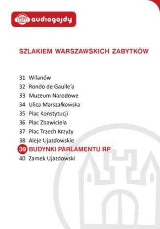 Okładka książki/ebooka Budynki Parlamentu RP. Szlakiem warszawskich zabytków