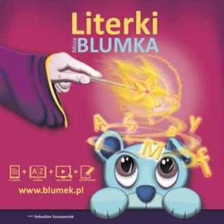 Okładka książki Literki Misia Blumka