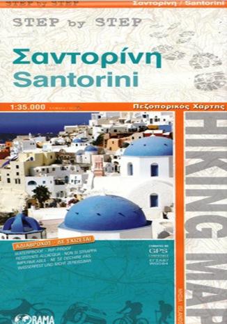 Okładka książki Santorini Mapa 1:35 000 Step by step Orama