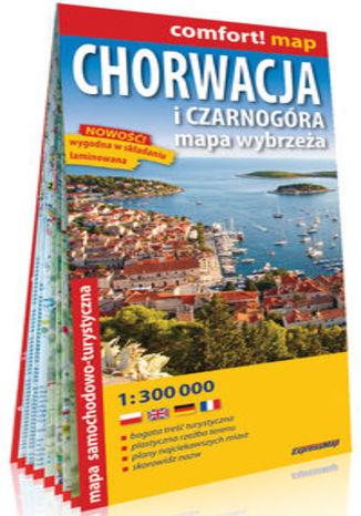 Okładka książki/ebooka Chorwacja i Czarnogóra. Mapa wybrzeża; laminowana mapa samochodowo-turystyczna 1:300 000