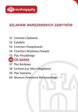Okładka książki/ebooka Oś Saska. Szlakiem warszawskich zabytków