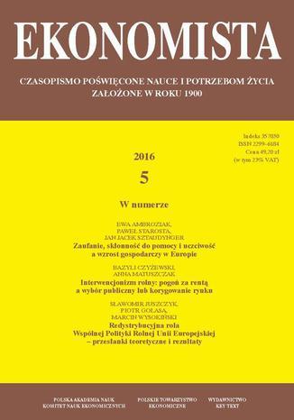 Okładka książki/ebooka Ekonomista 2016 nr 5