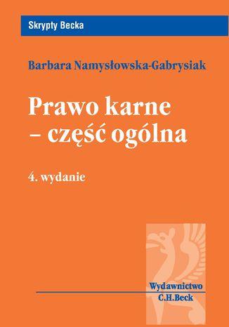 Okładka książki/ebooka Prawo karne - część ogólna