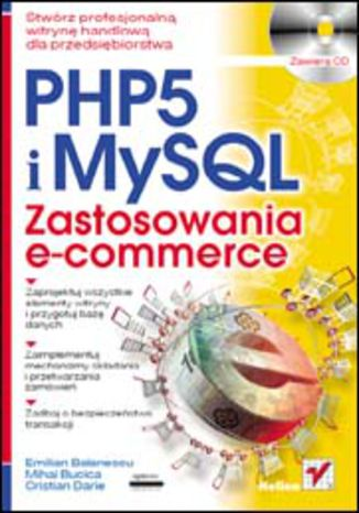 Okładka książki/ebooka PHP 5 i MySQL. Zastosowania e-commerce