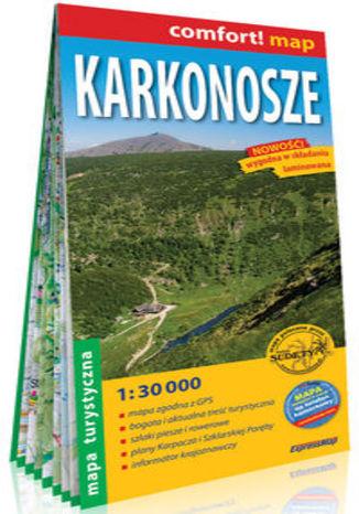Okładka książki/ebooka Karkonosze laminowana mapa turystyczna 1:30 000