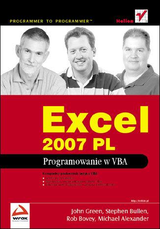 Okładka książki Excel 2007 PL. Programowanie w VBA