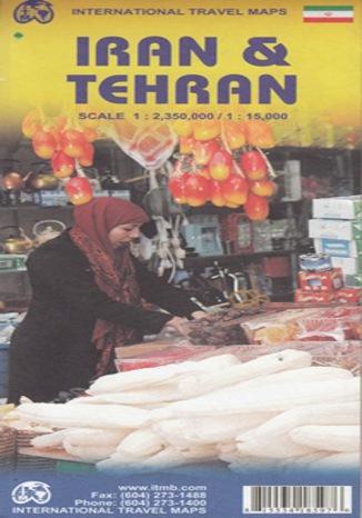 Okładka książki/ebooka Iran & Teheran. Mapa IMTB 1:2 350 000/ 1:15 000