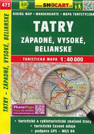 Okładka książki/ebooka Tatry - západné, Vysoké, Belianské, 1:40 000