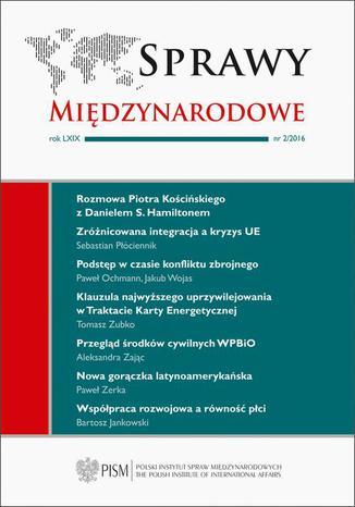 Okładka książki/ebooka Sprawy Międzynarodowe 2/2016