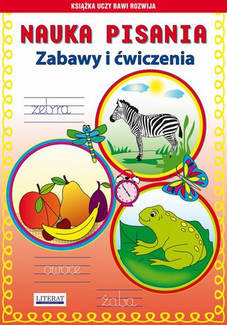 Okładka książki/ebooka Nauka pisania Zabawy i ćwiczenia. Zebra