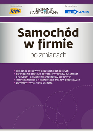 Okładka książki/ebooka Samochód w firmie po zmianach