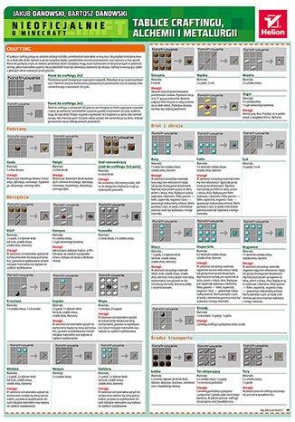 Okładka książki Minecraft. Tablice craftingu, alchemii i metalurgii