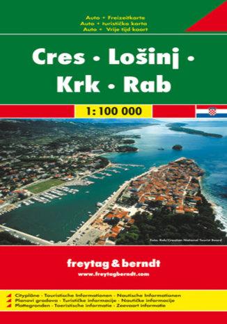 Okładka książki/ebooka Cres, Losinj, Krk, Rab. Mapa Freytag & Berndt / 1:100 000