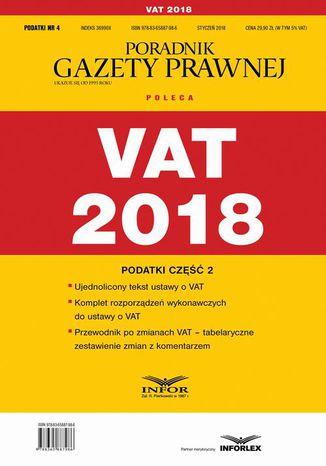 Okładka książki/ebooka VAT 2018. Podatki cześć 2