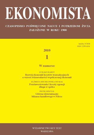 Okładka książki/ebooka Ekonomista 2010 nr 1