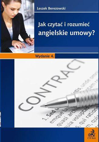 Okładka książki/ebooka Jak czytać i rozumieć angielskie umowy?