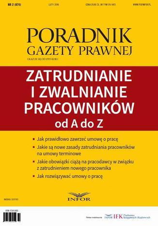 Okładka książki/ebooka Zatrudnianie i zwalnianie pracowników od A do Z