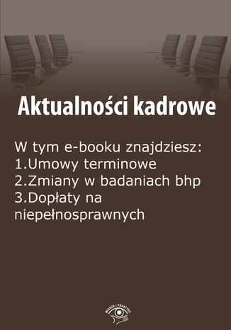 Okładka książki/ebooka Aktualności kadrowe, wydanie kwiecień 2015 r