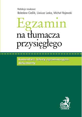 Okładka książki/ebooka Egzamin na tłumacza przysięgłego