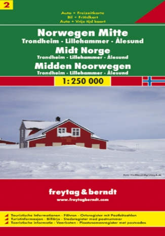 Okładka książki/ebooka Norwegia cz. 2 centralna Trondheim. Mapa samochodowa