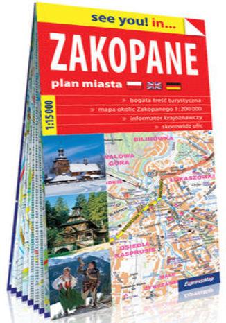 Okładka książki/ebooka Zakopane i okolice papierowy plan miasta 1:15 000