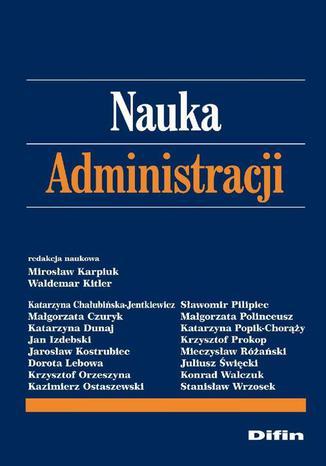 Okładka książki/ebooka Nauka administracji