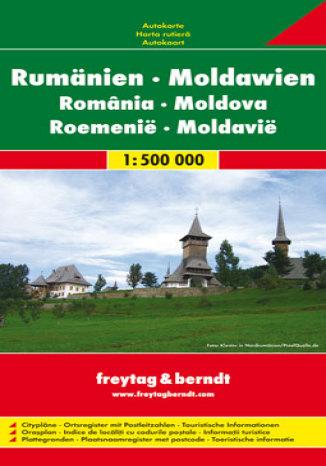 Okładka książki/ebooka Rumunia, Mołdawia. Mapa samochodowa