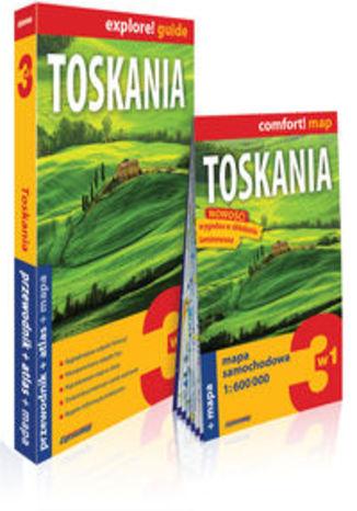 Okładka książki/ebooka Toskania 3w1 przewodnik + atlas + mapa. explore! guide