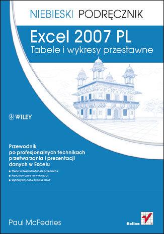 Okładka książki/ebooka Excel 2007 PL. Tabele i wykresy przestawne. Niebieski podręcznik