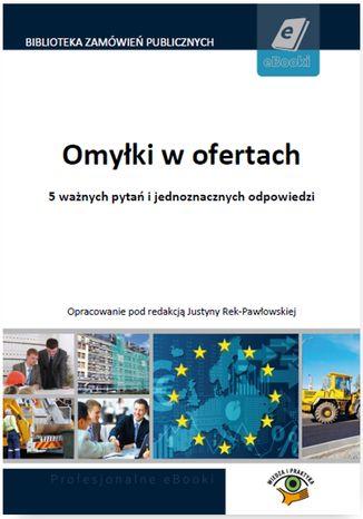 Okładka książki/ebooka Omyłki w ofertach
