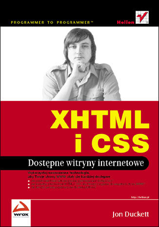 Okładka książki/ebooka XHTML i CSS. Dostępne witryny internetowe