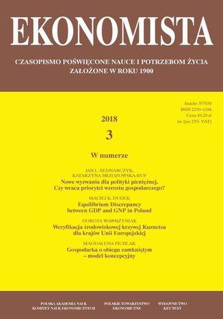 Okładka książki/ebooka Ekonomista 2018 nr 3