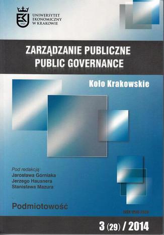 Okładka książki/ebooka Zarządzanie Publiczne nr 3(29)/2014, Koło Krakowskie - Anna Giza: Czy społeczeństwo może uczyć się z doświadczenia? Problem podmiotowości społeczeństwa
