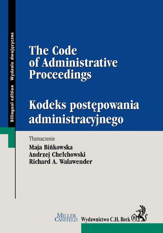 Okładka książki/ebooka KPA / The Code of Administrative Procedure