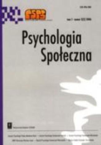 Okładka książki/ebooka Psychologia Społeczna nr 2(4)/2007