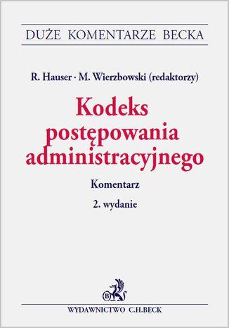 Okładka książki/ebooka Kodeks postępowania administracyjnego. Komentarz