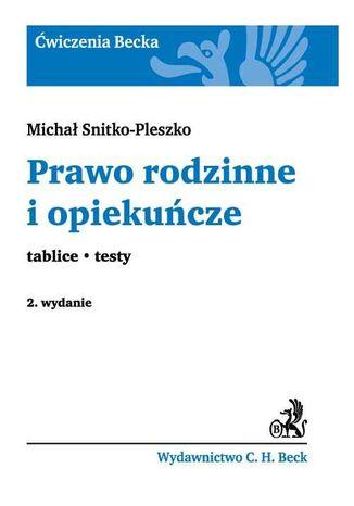 Okładka książki/ebooka Prawo rodzinne i opiekuńcze Tablice. Testy