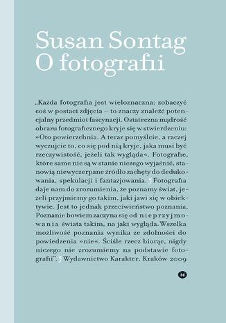 Okładka książki/ebooka O fotografii