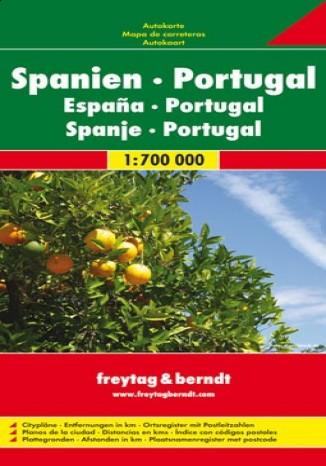 Okładka książki/ebooka Hiszpania Portugalia. Mapa 1:700 000