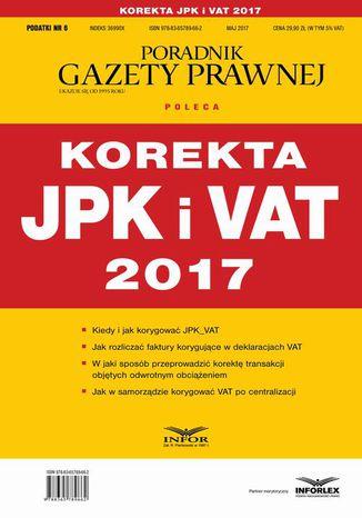 Okładka książki/ebooka Korekta JPK i VAT 2017