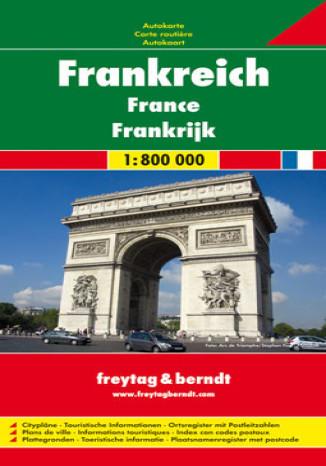 Okładka książki/ebooka Francja. Mapa Freytag & Berndt 1:800 000
