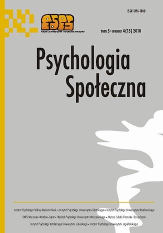 Okładka książki/ebooka Psychologia Społeczna nr 4(15)/2010