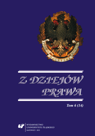Okładka książki/ebooka Z Dziejów Prawa. T. 6 (14)