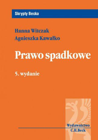 Okładka książki/ebooka Prawo spadkowe. Wydanie 5