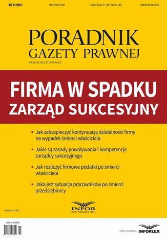 Okładka książki/ebooka Firma w spadku - zarząd sukcesyjny