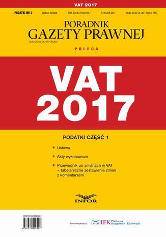 Okładka książki/ebooka Podatki cz.1 VAT 2017