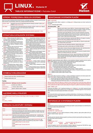 Okładka książki/ebooka Tablice informatyczne. Linux. Wydanie IV