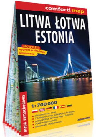 Okładka książki/ebooka Litwa Łotwa Estonia; laminowana mapa samochodowa 1:700 000